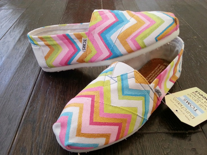 Colorful Chevron TOMS