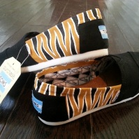 Tiger Stripe TOMS