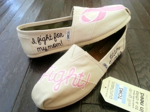 Breast Cancer Pink Ribbon TOMS