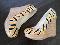 Tiger Stripe Heels