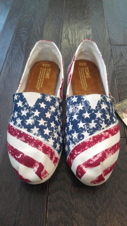 American Flag TOMS