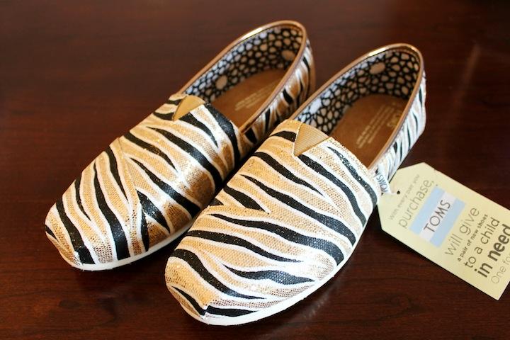 Tiger Stripe TOMS